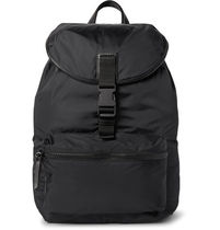 Obsedia Leather-Trimmed Nylon Backpack バックパック