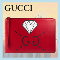 GUCCIグッチ/Gucci Ghost pouchグッチゴーストプリントポーチ 赤