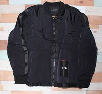 M+RC NOIR BLACK STRAPED BOMBERS JACKET マルシェノア