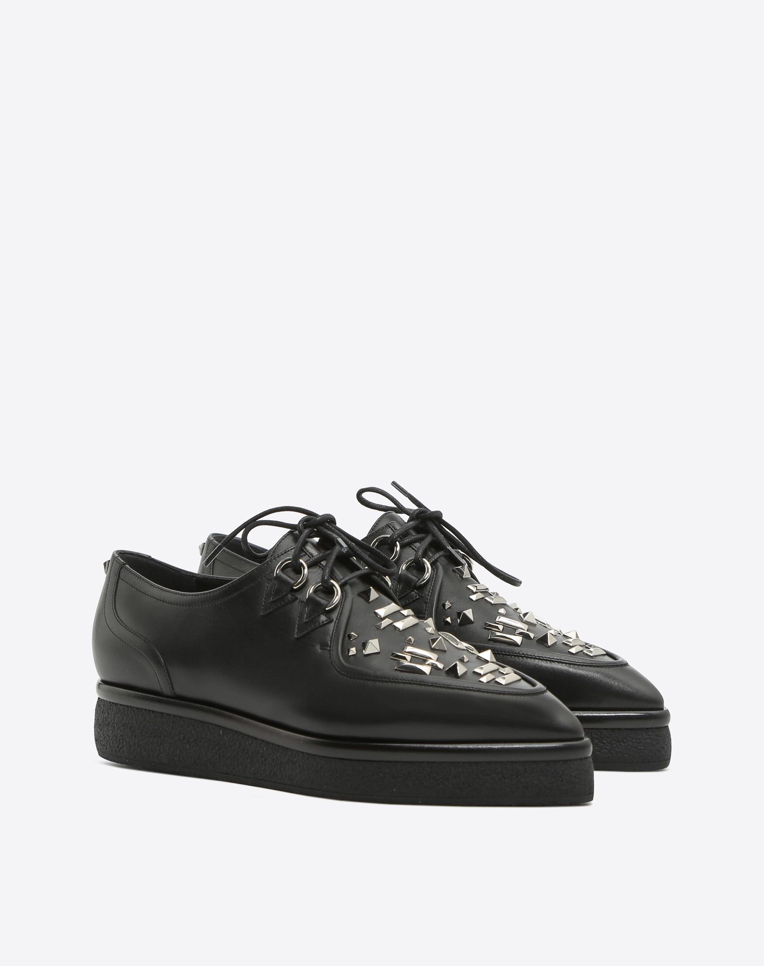 【17AW NEW】VALENTINO_women /PUNK-EMBROIDERY DERBY/Black