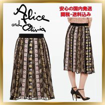 ◇ Alice+Olivia ◇ Floral embroidery skirt  【関税送料込】