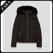 ★ZARA★ザラ  QUILTED JACKET WITH TEXTURED HOOD