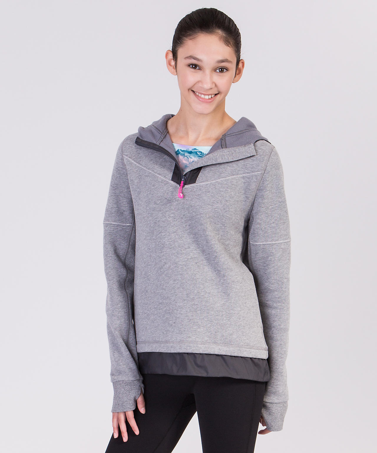 <ivivva by lululemon>Drills And Frills Hoodie ダークグレー