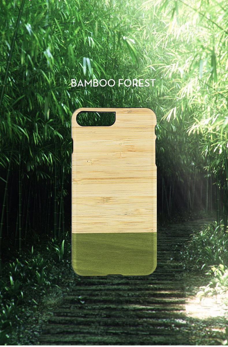 iPhone 8 Plus / 7 Plus 天然木ケース Man & Wood Bamboo Forest