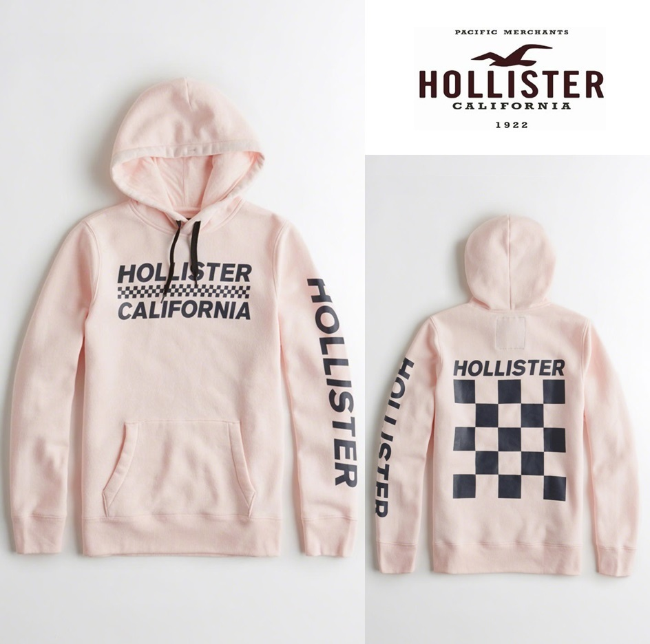 ★送料込★Hollister★Checkerboard Graphic Hoodie★
