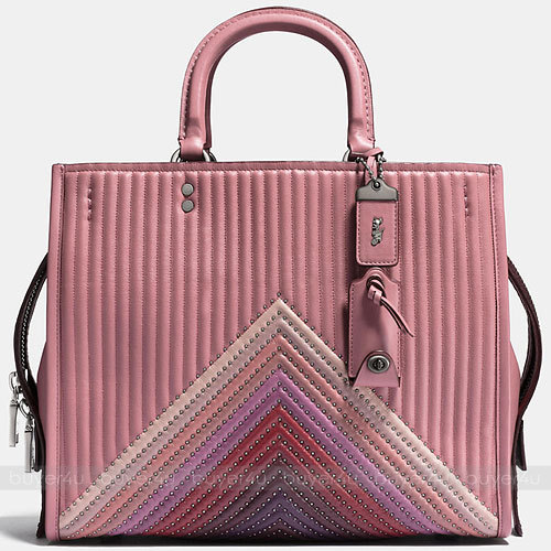 COACH★ローグ☆ROGUE COLORBLOCK QUILTING AND RIVETS 25035