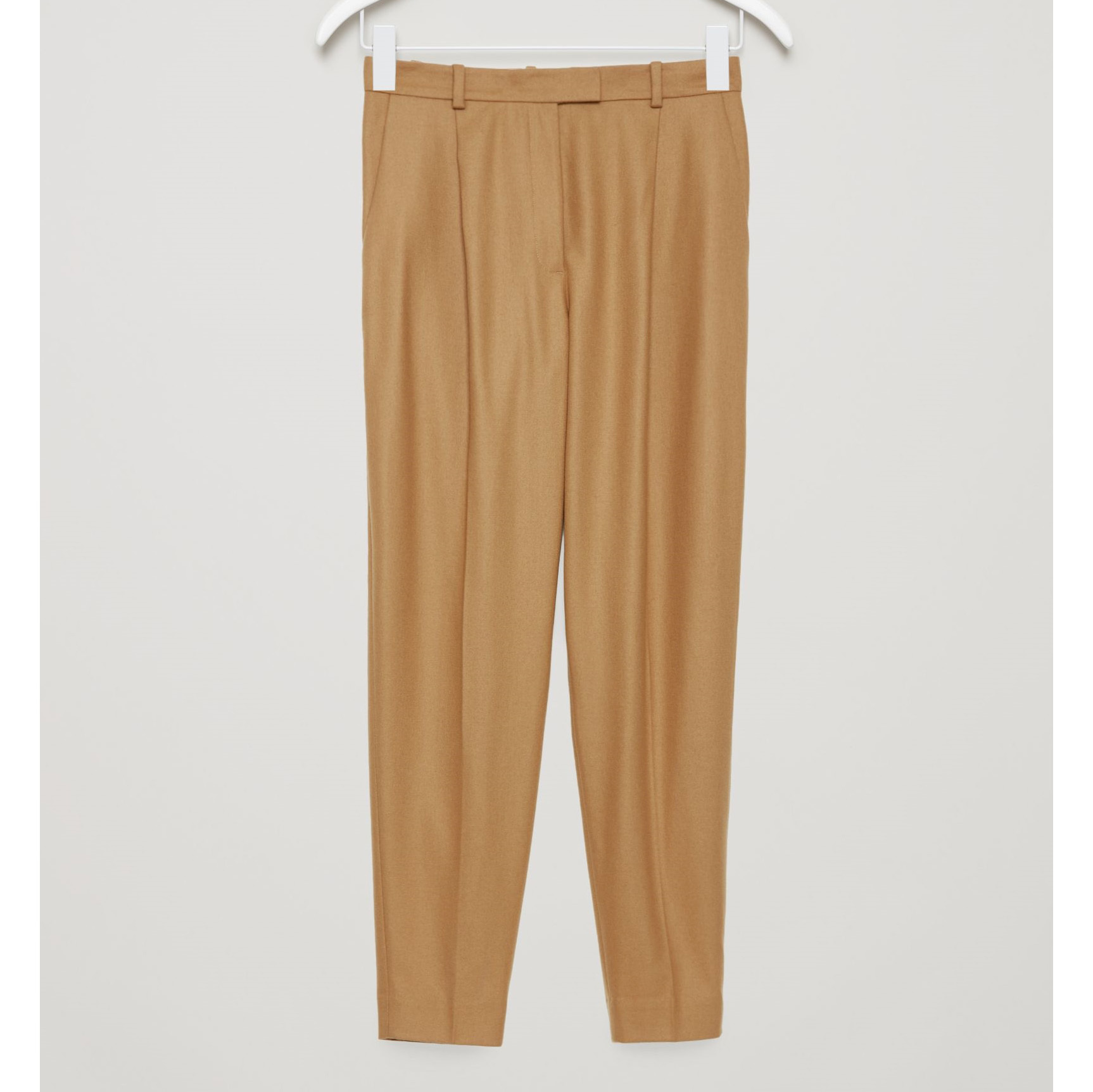 COS☆HEAVYWEIGHT WOOL TAPERED TROUSERS / beige
