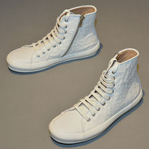 BOTH PARIS(ボスパリス) スニーカー BOTH C080008/10 CRINKLED RUBBER HIGH-TOP SNEAKERS WHITE