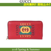 18SS関税込★GUCCI(グッチ) Vintage print zip around wallet