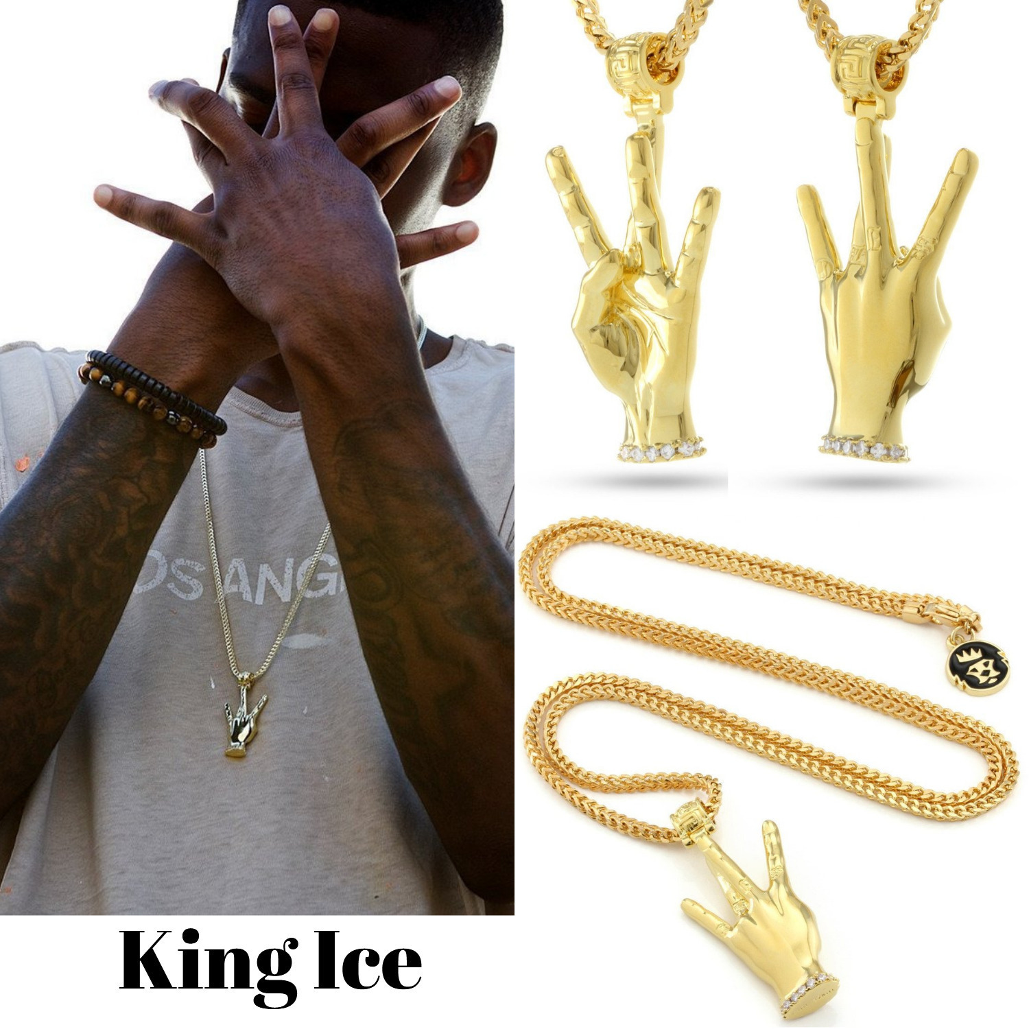 ★King Ice★by SNOOP DOGG 14kゴールドネックレス★送料込み