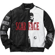 Supreme Scarface Embroidered Leather Jacket S〜XLサイズ有