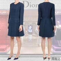 ◆◆VIP◆◆ DIOR  PLEATED   Wool & Silk ワンピース / Last1点