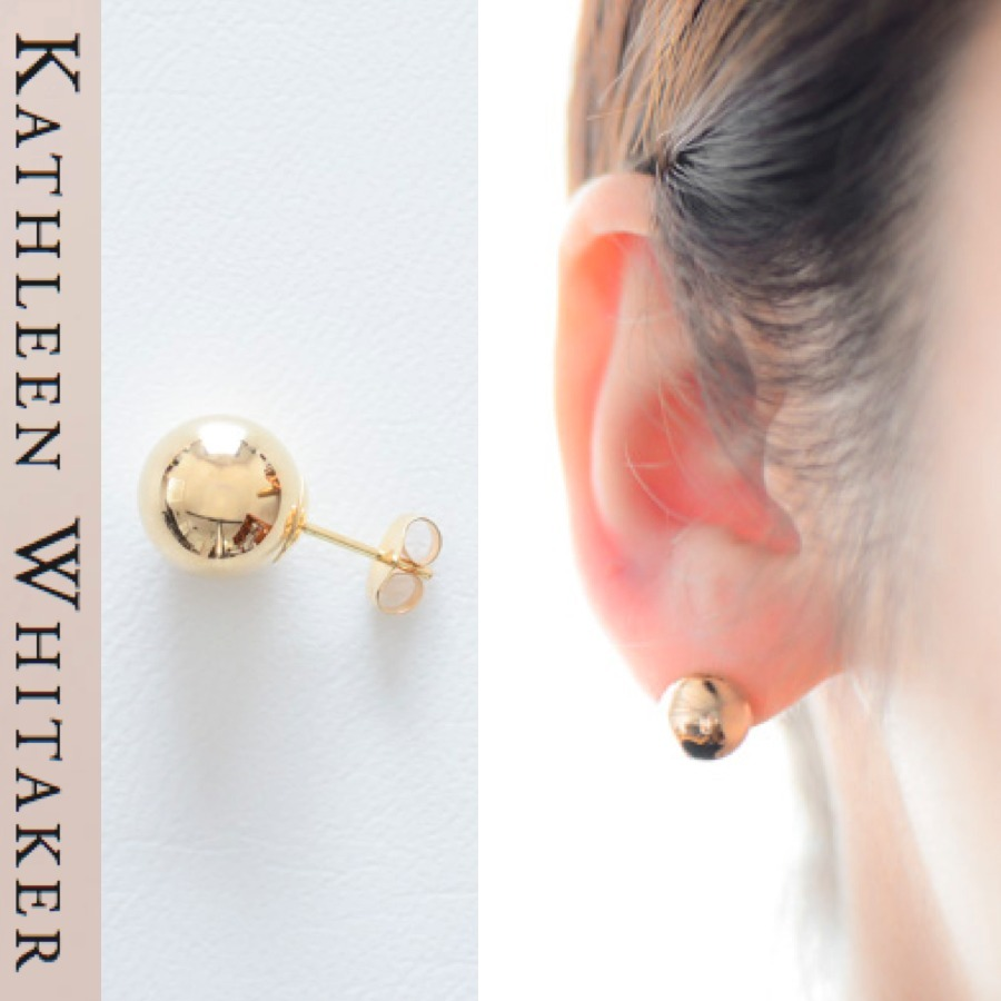 セレブ愛用☆14KG Medium Ball Earring 9m【Kathleen Whitaker】