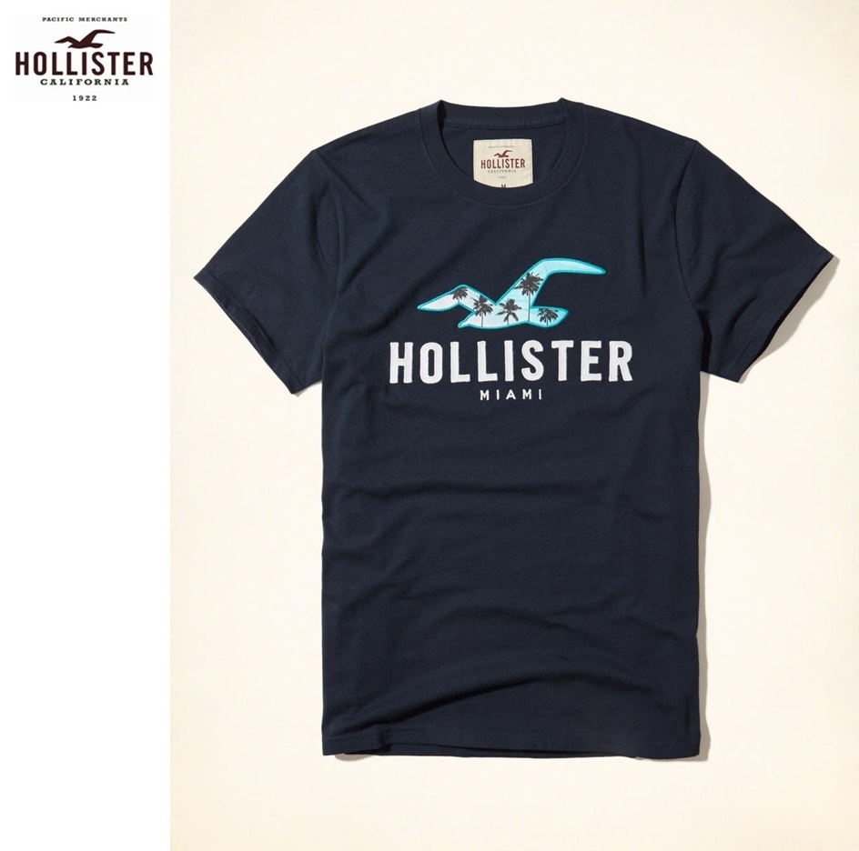 ★送料込★Hollister★Miami Icon Logo Graphic Tee★