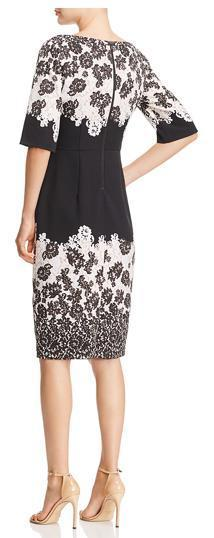 【送料・関税等込み】Lace Print Sheath Dress