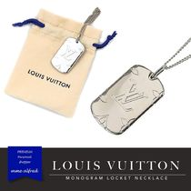 Louis Vuitton ルイヴィトン★LVロゴ ロケット ネックレス