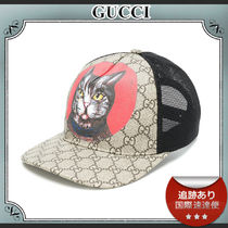 18SS/送料込≪GUCCI≫ GG Supreme キャット キャップ