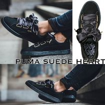 PUMA SUEDE HEART STAIN ( BLACK )