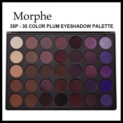 【Morphe】35P - 35 COLOR PLUM EYESHADOW PALETTE