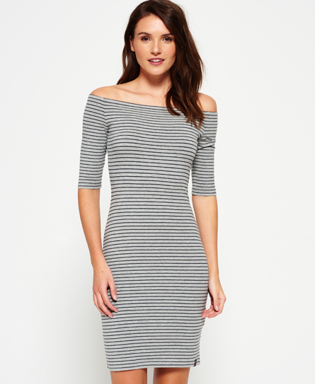 Superdry(スーパードライ)Breton Bardot Stripe Dress ドレス