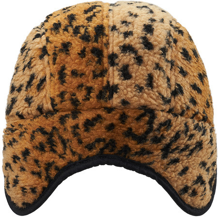 送料込み★Supreme Leopard Fleece Earflap Camp Cap