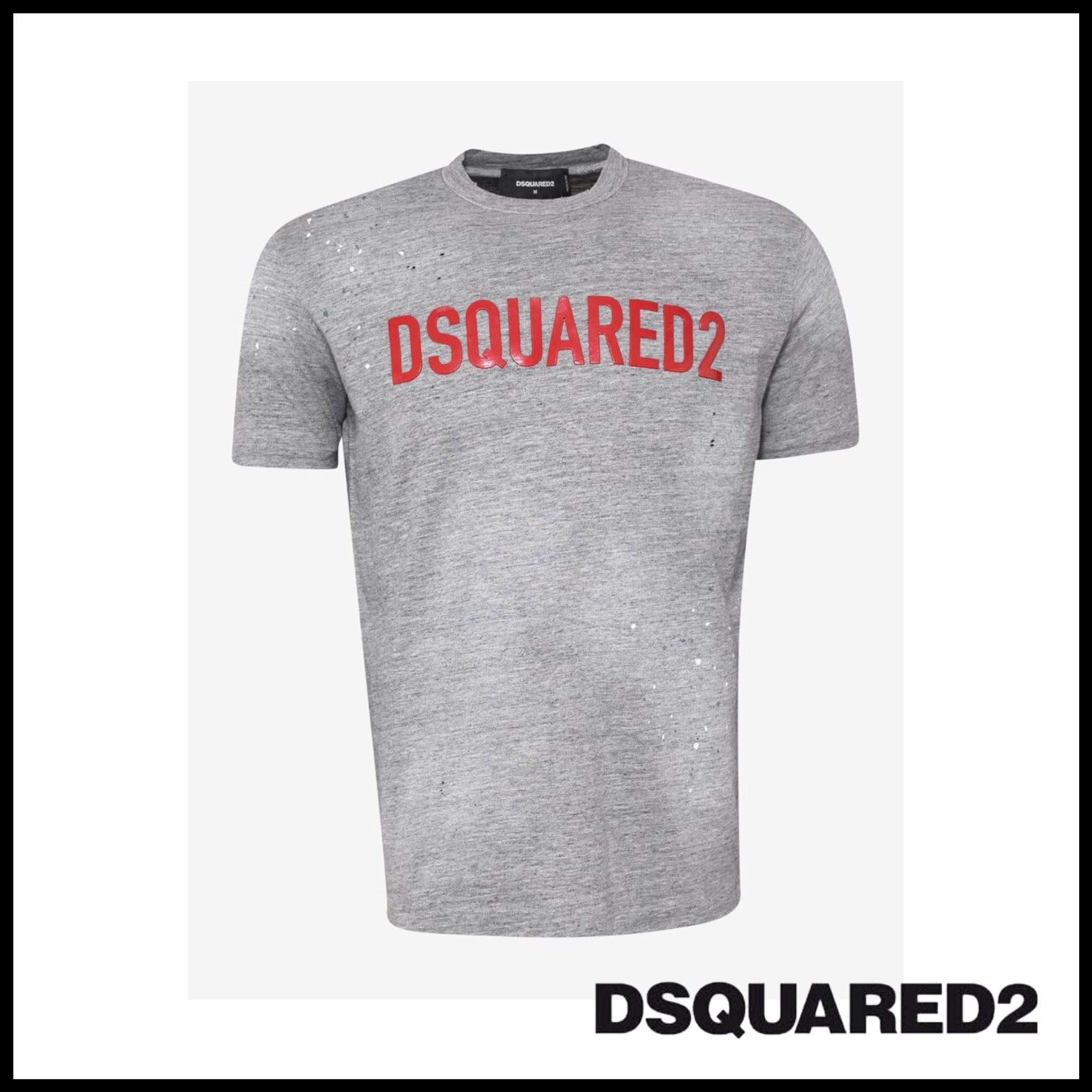 DSQUARED2☆Grey DSQUARED2 Print T-Shirt
