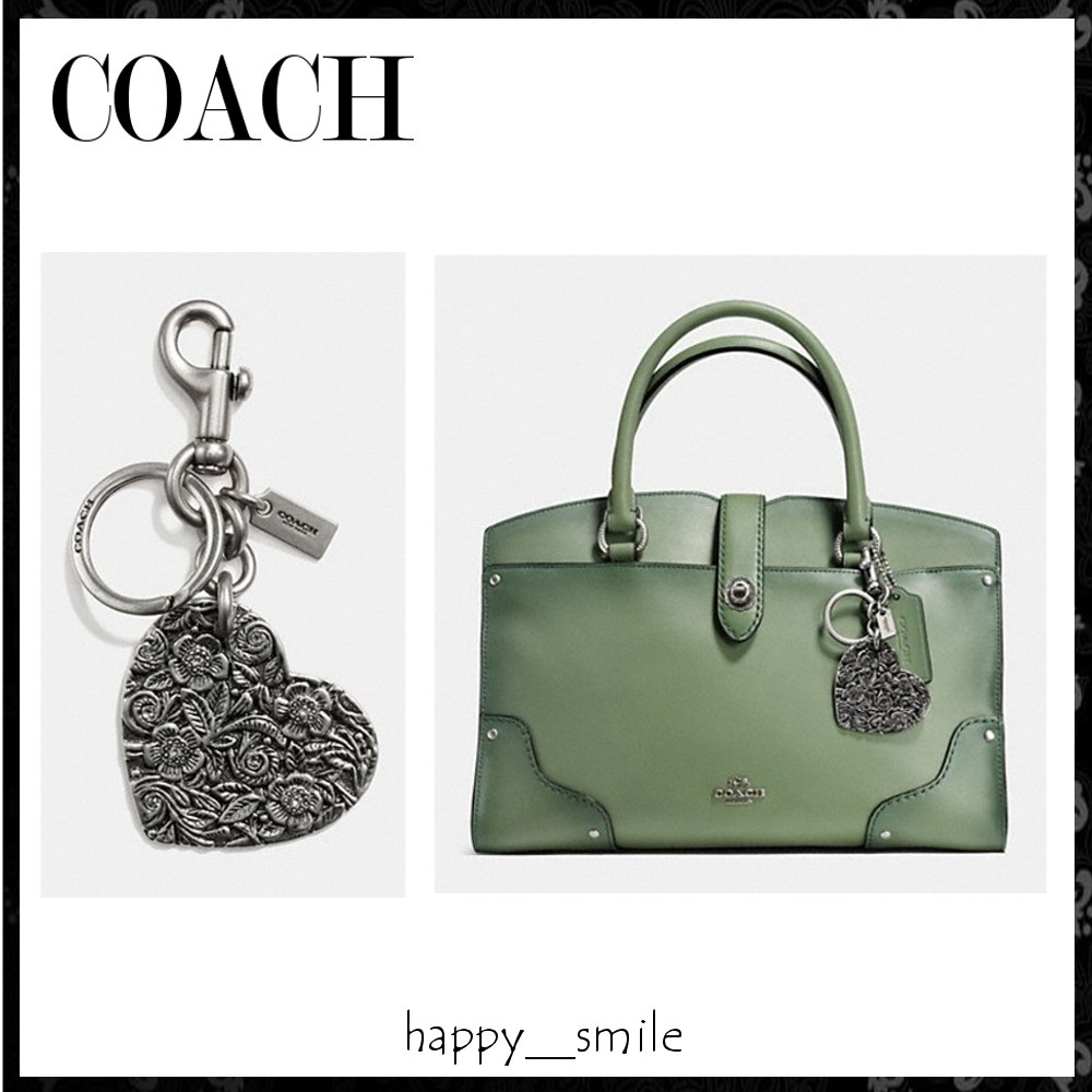 §Coach§ 国内発送 ハートのメタルバッグチャーム
