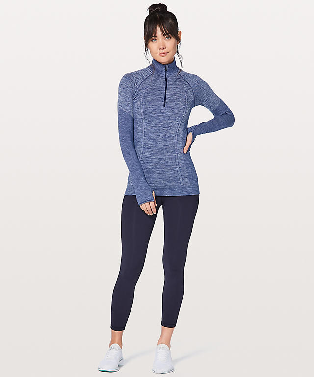 ★新色★lululemon★Swiftly Wool 1/2 Zip★Hero Blue