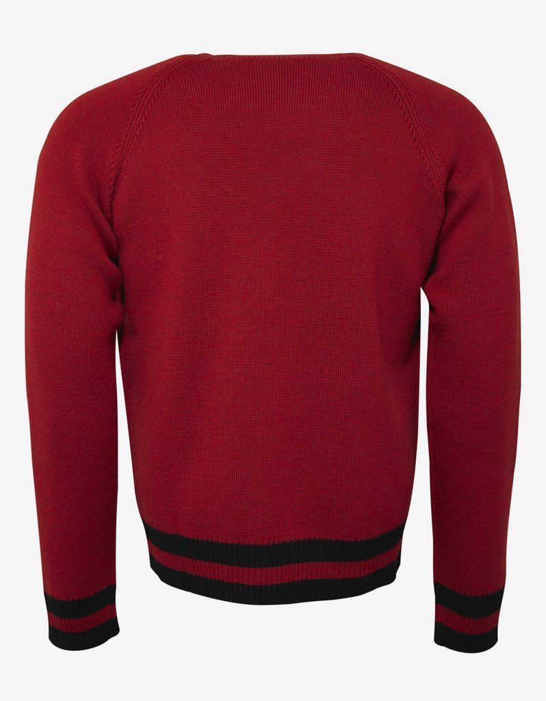 DSQUARED2☆Red Maple Leaf Embroidery Wool Sweater