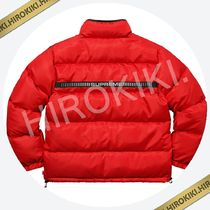 Mサイズ★Supreme Reflective Sleeve Logo Puffy Jacket Red 赤