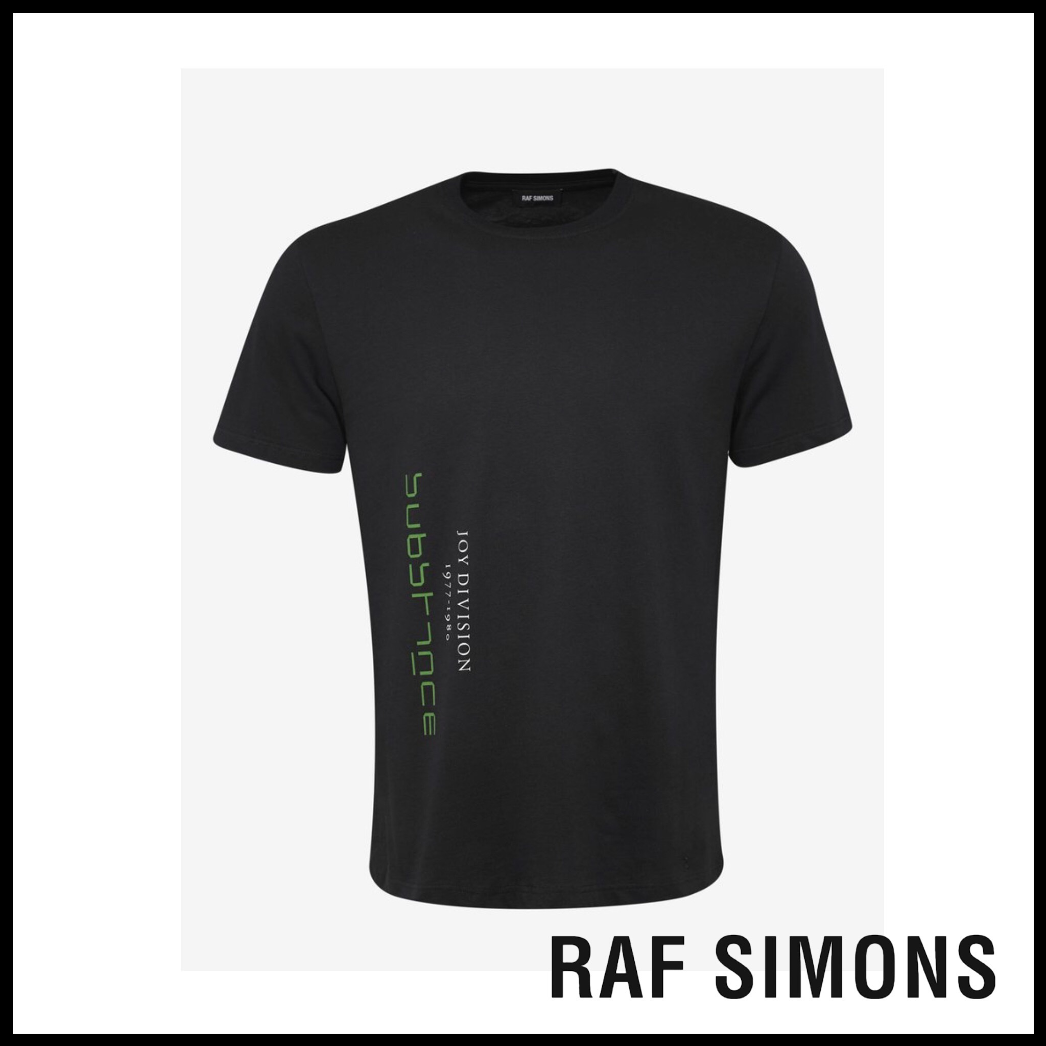 RAF SIMONS☆Black Joy Division Print Slim Fit T-Shirt