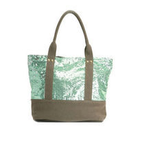 Deux Lux(ドゥラックス) トートバッグ 即納 Deux Lux(Ipanema スパンコールTOTE DL1010-25 MINT