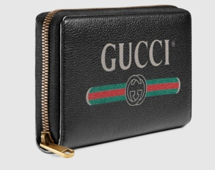 GUCCI★Gucci Print leather zip around wallet 2色