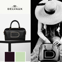 [本店取寄せ] デルボー(DELVAUX)*Louise Boston* Ivory stitch