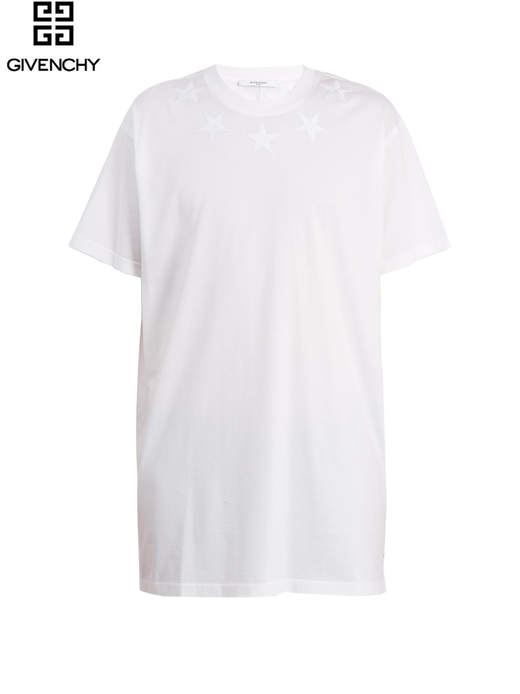 【GIVENCHY★送関込】Cuban-fit スターアップリケ Tシャツ/WH
