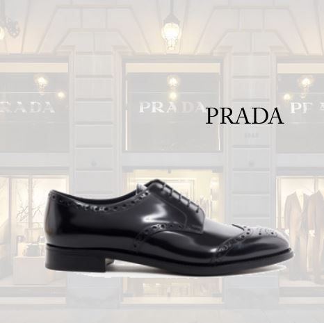 【PRADA】BLACK LACE UP SHOES