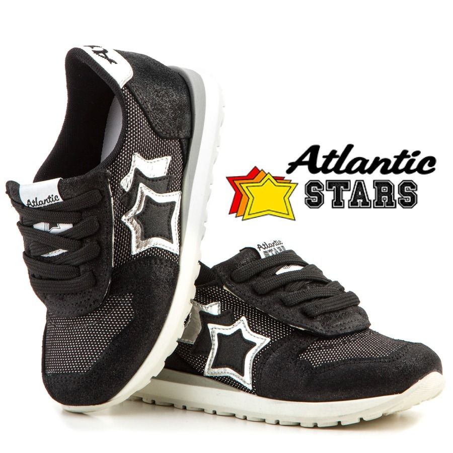 今季新作★13cm〜18cm★Atlantic STARS★  KIDS BLACK/SILVER