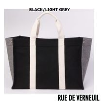 RUE DE VERNEUIL パリ セレブカジュアル TWO-COLOURED TOTE BAG