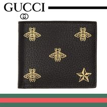 0475a8ca2e9 GUCCI☆グッチ☆素敵! Black Studded Leather Bi-fold Wallet