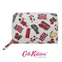 ☆Cath Kidston☆POCKET PURSE LONDON STAMPS STONE☆