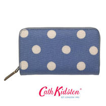 ☆Cath Kidston☆DOUBLE ZIP PURSE TEXTURED BUTTON SPOT☆