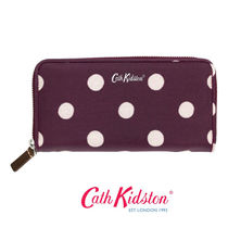 ☆Cath Kidston☆CONTINENTAL ZIP WALLET BUTTON SPOT☆