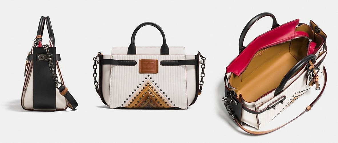Coach ◆ 25834 Double swagger with colorblock quilting