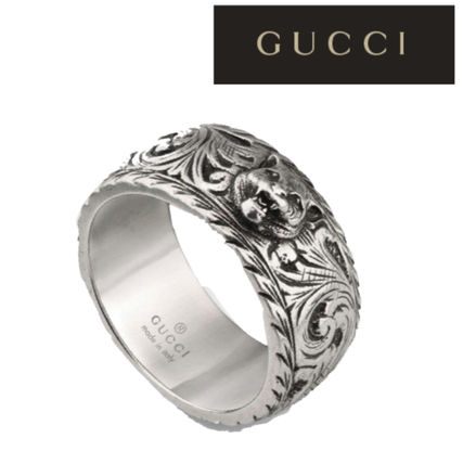 e60978344d GUCCI★Thin silver ring with feline head