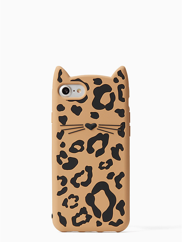 国内発送*Kate Spade*cheetah cat iPHONE7/8ケース*猫
