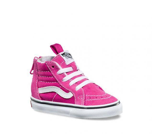 【バンズKids】TODDLER SK8-HI ZIP  ★ Very Berry/True White