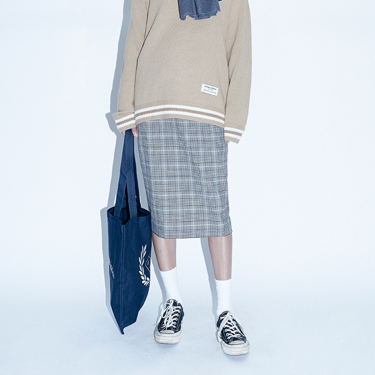 【default】NMPS LAUREL エコバッグ (navy) - UNISEX