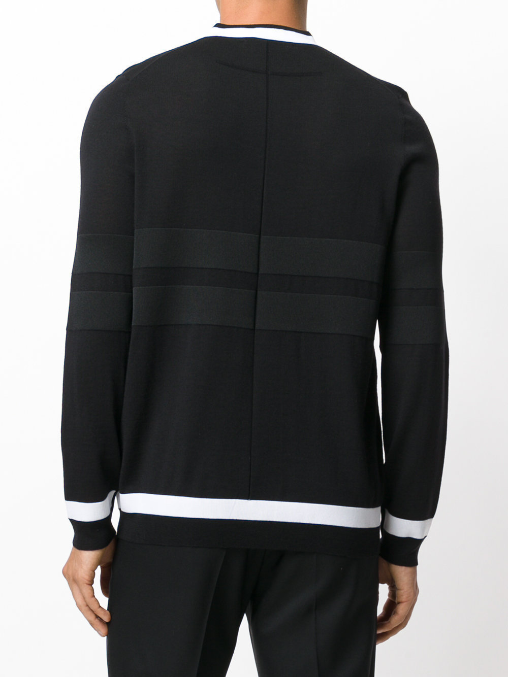 GIVENCHY 17AW CONTRAST DETAIL ウール ニット_BLACK