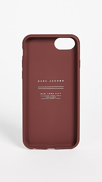 ★関税送料込★MARC JACOBS★Leather Double J iPhone 7/8 Case