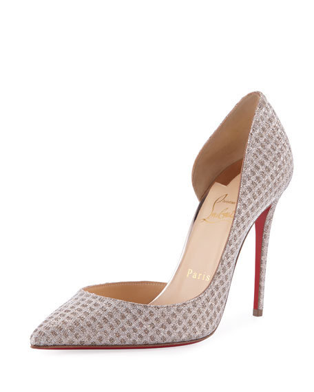 【新作】18SS Christian Louboutin Iriza Metallic Fabric Pumps